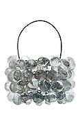 basket made of glass bolls