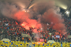 November 2, 2017 - Bucharest, Romania - Hapoel Berr Sheva's fans during the UEFA Europa League 2017-2018, Group Stage, Groupe G game between FCSB Bucharest (ROU) and Hapoel Beer-Sheva FC (ISR) at National Arena Stadium, Bucharest,  Romania, on 2 November 2017. (Credit Image: © Alex Nicodim/NurPhoto via ZUMA Press)