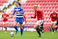 Reading forward Emma Harris (36) runs with the ball during the FA Women's Super League match between Manchester United Women and Reading LFC at Leigh Sports Village, Leigh, United Kingdom on 7 February 2021.