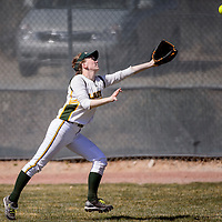 032914       Cable Hoover<br /> <br /> Thoreau Hawk Jade Chase (3) sprints for a fly ball from the Wingate Bears Saturday at Tohatchi High School.