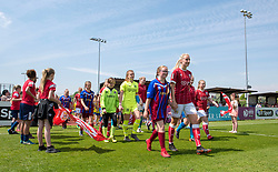 Bristol City Women make their way on to the pitch at Stoke Gifford Stadium for the final time this season - Mandatory by-line: Paul Knight/JMP - 20/05/2018 - FOOTBALL - Stoke Gifford Stadium - Bristol, England - Bristol City Women v Arsenal Ladies - FA Women's Super League 1