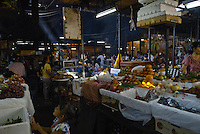 Inside the Russian Market Food Hall in Phnom Penh, Cambodia
