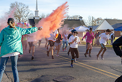 March 23, 2019 - Vernon, Alabama, United States - The color was flying at the start of a 5K run in Vernon, Alabama on Saturday, March 23, 2019. The temeratures were cool, but the sun was shining and the enthusiasim was high. (Credit Image: © Tim ThompsonZUMA Wire)