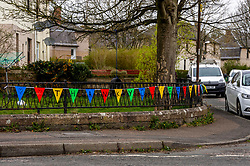 Messages of support are still evident around Penicuik<br />