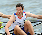 Reading, GREAT BRITIAN, GBR LM2X,  Mark HUNTER, British Olympic Association, BOA, 2008 Beijing Olympic Rowing Team Announcement for 2008 Beijing Olympic Games, CHINA. .Redgrave and  Pinsent Rowing Lake, Caversham Training Centre, on Thursday, 26/06/2008. [Mandatory Credit:  Peter SPURRIER / Intersport Images] Rowing course: GB Rowing Training Complex, Redgrave Pinsent Lake, Caversham, Reading