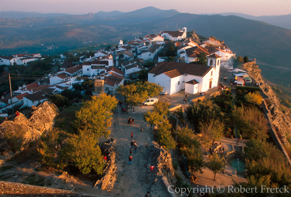 PORTUGAL, EAST CENTRAL Marvao, medieval walled hilltown, on the border with Spain, seen from the walls of the 13thC castle