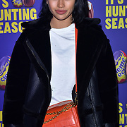 Vanessa White arrives at the Creme Egg Camp - grand opening at its Shoreditch pop-up with an evening of themed cocktails and treats on 18th January 2018, London, UK.