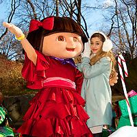 Ariana Grande with Dora The Explorer at The Annual Macy*s Thanksgiving Day Parade in New York City.