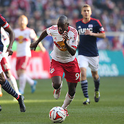 Bradley Wright-Phillips, New York Red Bulls, in action during the New York Red Bulls Vs New England Revolution, MLS Eastern Conference Final, first leg at Red Bull Arena, Harrison, New Jersey. USA. 23rd November 2014. Photo Tim Clayton