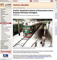 Financial Times Vladivostok railway