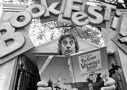 September 23, 2016 - File - TERRY JONES, one of the founding members of comedy troupe Monty Python, has been diagnosed with dementia. The 74-year-old has primary progressive aphasia, which erodes the ability to use language. As a result, Jones can no longer give interviews. Pictured: Former Monty Python member Terry Jones with his book The Curse of the Vampire's Socks at Edinburgh Book Festival 1993. (Credit ANY Usage: © Scotsman/ZUMA Press)