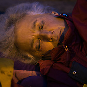 Barbara Cookson. Around 4 am. 13 anti-fracking activists, one hour into a joint lock-on outside Quadrilla's drill site in New Preston Road, Lancashire. The campaign against the drilling for shale gas has been going for years and since January 2017 many have taken to block the gates to deny Quadrilla being able to drill. Fracking was rejected by Lancashire County council in 2015 but were overruled by central Conservative government and locals are fighting to stop the drilling and reverse the decision.