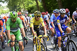 July 28, 2019, France: PARIS, FRANCE - JULY 28 : SAGAN Peter (SVK) of Bora - Hansgrohe, BERNAL Egan (COL) of Team INEOS, ALAPHILIPPE Julian (FRA) of Deceuninck - Quick Step during stage 21 of the 106th edition of the 2019 Tour de France cycling race, a stage of 128 kms between Rambouillet and Paris Champs-Elysees on July 28, 2019 in Paris, France, 28/07/2019 (Credit Image: © Panoramic via ZUMA Press)