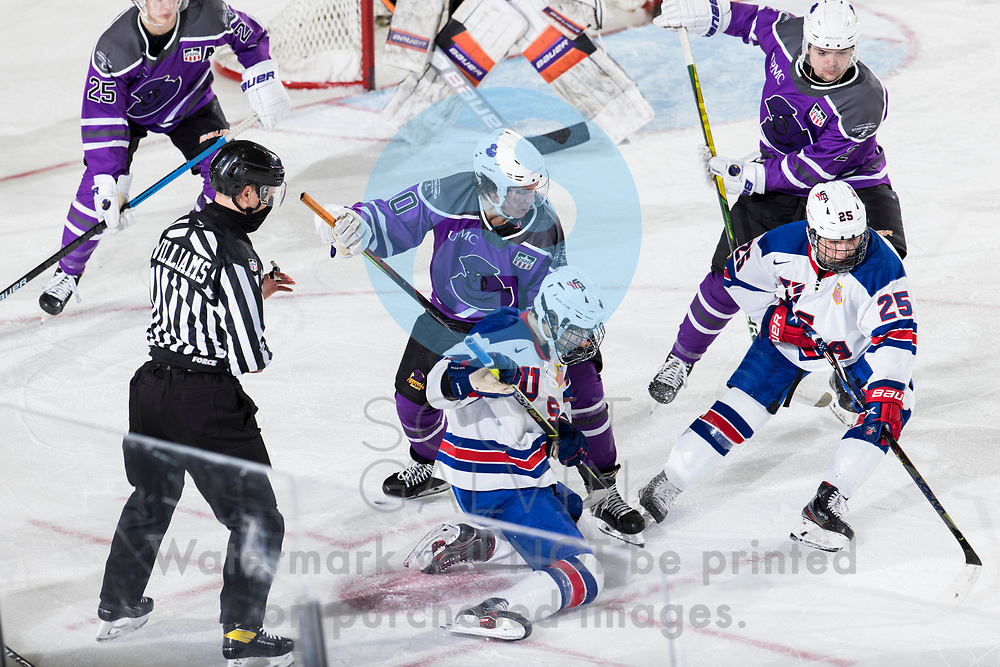 The Youngstown Phantoms defeat Team USA U-18 5-2 at the Covelli Centre on January 30, 2021.<br /> <br /> Jaden Grant, forward, 40
