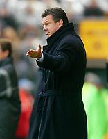 Photo: Scott Heavey.<br /> Wolverhampton Wanderers v Aston Villa. FA Barclaycard Premiership. 14/03/2004.<br /> A happy David O'Leary