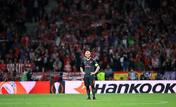 Arsenal's Jack Wilshere shows his dejecton after his side concede during the UEFA Europa League, Semi Final, Second Leg at Wanda Metropolitano, Madrid.