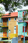 Painted houses, La Boca, Buenos Aires, Argentina, South America