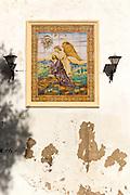 Ceramic tiles religious picture, convent of Santo Domingo church, Jerez de la Frontera, Spain