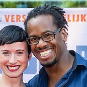 NLD/Amsterdam/20160717- Premiere Huisdiergeheimen, Rogier Komproe en partner