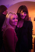 DENI KIRKOVA; HELENA  CHRISTENSEN, Maison Triumph launch to celebrate the beginning of London fashion week. Monmouth St. 14 February 2013.
