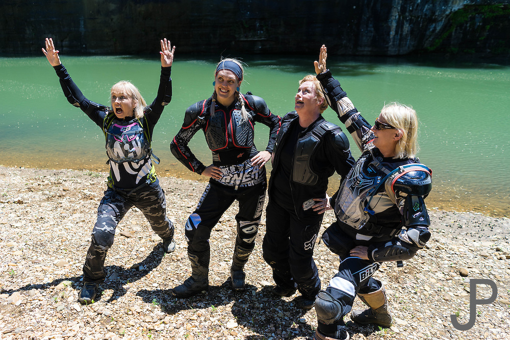 """Several girls mimic """"Superstar"""" Saturday Night Live skit while relaxing along the Buffalo River."""