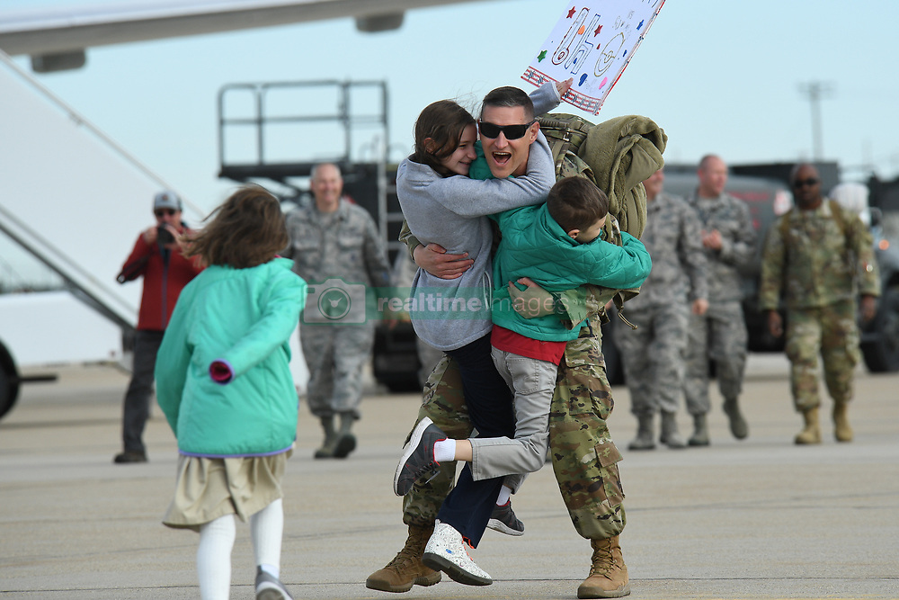 April 29, 2019 - Hill Air Force Base, Utah, U.S. - Airmen assigned to the 729th Air Control Squadron return home after a 7-month Middle East deployment at Hill Air Force Base, Utah, April 29, 2019. While deployed, 729th ACS Airmen provided aircraft control and air surveillance across a 1.1 million square-miles of U.S. Air Force Central Command airspace. (Credit Image: ? U.S. Air Force/ZUMA Wire/ZUMAPRESS.com)
