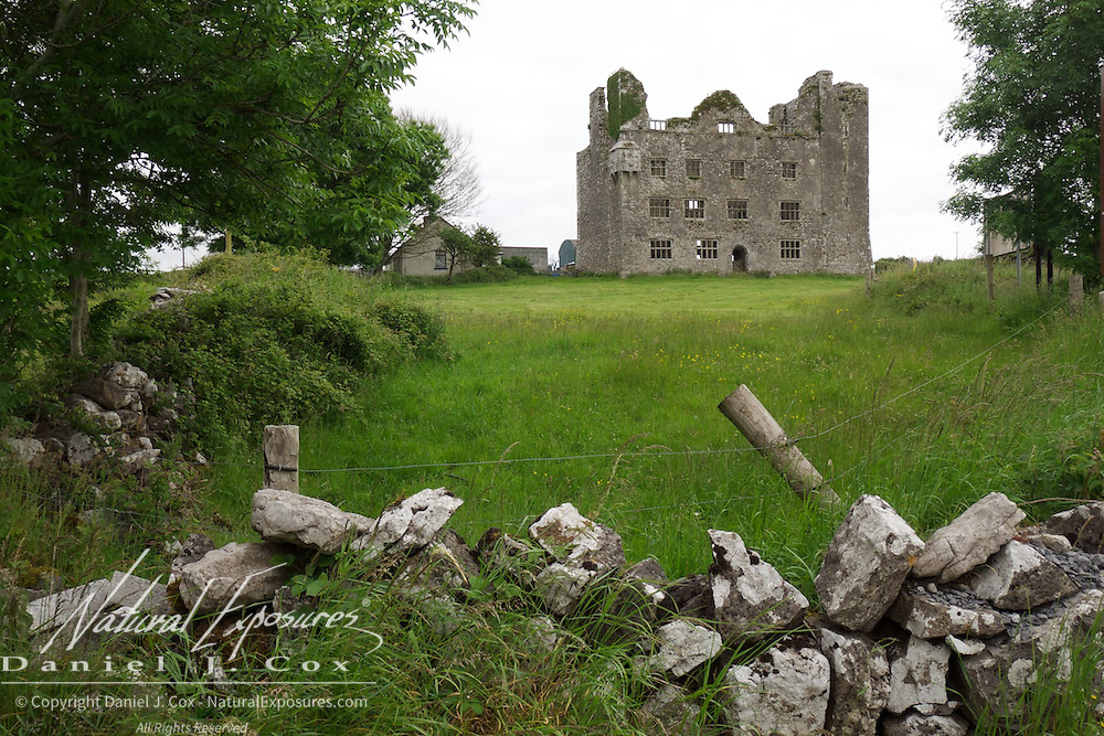 The Lemanagh Castle near Doolin, Ireland.