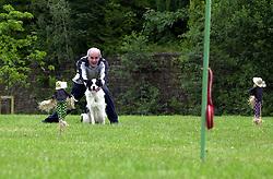 Eddie Sander with his Dogs Jackson and Inka<br /> <br /> 18 June 2004<br /> <br /> Copyright Paul David Drabble<br /> <br /> [#Beginning of Shooting Data Section]<br /> Nikon D1 <br /> <br /> Focal Length: 116mm<br /> <br /> Optimize Image: <br /> <br /> Color Mode: <br /> <br /> Noise Reduction: <br /> <br /> 2004/06/18 09:22:37.1<br /> <br /> Exposure Mode: Manual<br /> <br /> White Balance: Auto<br /> <br /> Tone Comp: Normal<br /> <br /> JPEG (8-bit) Fine<br /> <br /> Metering Mode: Center-Weighted<br /> <br /> AF Mode: AF-S<br /> <br /> Hue Adjustment: <br /> <br /> Image Size:  2000 x 1312<br /> <br /> 1/200 sec - F/8<br /> <br /> Flash Sync Mode: Not Attached<br /> <br /> Saturation: <br /> <br /> Color<br /> <br /> Exposure Comp.: 0 EV<br /> <br /> Sharpening: Normal<br /> <br /> Lens: 80-200mm F/2.8<br /> <br /> Sensitivity: ISO 200<br /> <br /> Image Comment: <br /> <br /> [#End of Shooting Data Section]