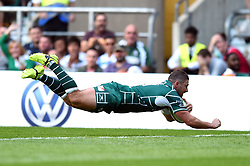 Brendan McKibbin of London Irish scores a try to seal the game - Mandatory byline: Patrick Khachfe/JMP - 07966 386802 - 02/09/2017 - RUGBY UNION - Twickenham Stadium - London, England - London Irish v Harlequins - Aviva Premiership