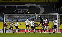 Football - 2020 / 2021 Premier League - Burnley vs. Fulham<br /> <br /> Fulham keeper Alphonse Areola misses a Burnley cross, at Turf Moor.<br /> <br /> <br /> COLORSPORT/ALAN MARTIN