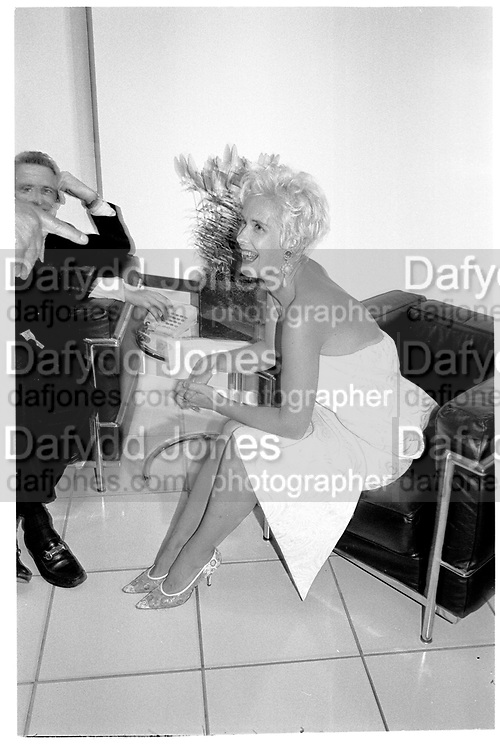 PAULA YATES, London. 1991,<br /> <br /> SUPPLIED FOR ONE-TIME USE ONLY> DO NOT ARCHIVE. © Copyright Photograph by Dafydd Jones 248 Clapham Rd.  London SW90PZ Tel 020 7820 0771 www.dafjones.com