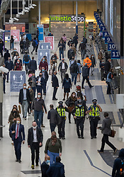 © Licensed to London News Pictures. 07/09/2020. London, UK. Passengers arrive at Waterloo Station. Train capacity is supposed to reach 90% today as holidays come to an end and schools return. Photo credit: Peter Macdiarmid/LNP