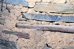 Cliff Dwelling Construction, Mustang Ridge, Apache Reservation