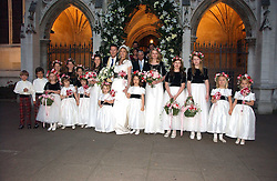 CLEMENTINE HAMBRO and ORLANDO FRASER with their attendents at the wedding of Clementine Hambro to Orlando Fraser at St.Margarets Westminster Abbey, London on 3rd November 2006.<br /><br />NON EXCLUSIVE - WORLD RIGHTS
