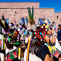 102712       Cable Hoover<br /> <br /> Stephanie Vicenti brushes the tassels out of her eyes as she lines up with other dancers for the Zuni Harvest Festival in Zuni Saturday.