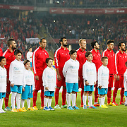 Turkey's players during their a international friendly soccer match Turkey betwen Brazil at Sukru Saracoglu Arena in istanbul November 12, 2014. Photo by Aykut AKICI/TURKPIX