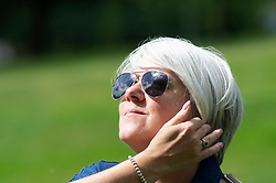 ©Licensed to London News Pictures 04/09/2019.<br /> Tunbridge Wells ,UK. People out and about at Dunorlan Park in Royal Tunbridge Wells, Kent. Bright and sunny Kent weather this afternoon with patches of dark cloud as we move from summer to autumn. Photo credit: Grant Falvey/LNP