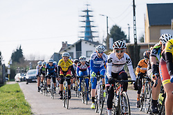 Gabriella Pilote Fortin reaches the halfway point of the initial large loop. The cobbles are fast approaching - 2016 Omloop van het Hageland - Tielt-Winge, a 129km road race starting and finishing in Tielt-Winge, on February 28, 2016 in Vlaams-Brabant, Belgium.