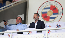 Wales manager Ryan Giggs (right) in the stands before the Sky Bet Championship match at the Madejski Stadium, Reading.