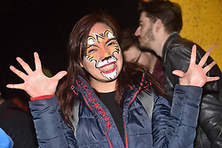 June 24, 2017 - Auckland, New Zealand - An All Blacks fan pose for camera prior  the first test match between the New Zealand All Blacks  and the British and Irish Lions at Eden Park, Auckland, New Zealand. The British and Irish Lions are a composite team selected from players representing the national teams of England, Ireland, Scotland or Wales, They play against New Zealand every 12 years. The lions lost to New Zealand 30-15. (Credit Image: © Shirley Kwok/Pacific Press via ZUMA Wire)