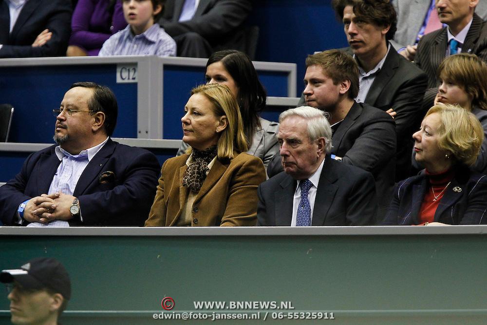 NLD/Rotterdam/20100214 - ABN - AMRO tennistoernooi 2010, finale, Frits Korthals - Altes en partner
