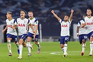 Tottenham Hotspur win on penalties and head towards Tottenham Hotspur goalkeeper Hugo Lloris (1) during the EFL Cup Fourth Round match between Tottenham Hotspur and Chelsea at Tottenham Hotspur Stadium, London, United Kingdom on 29 September 2020.