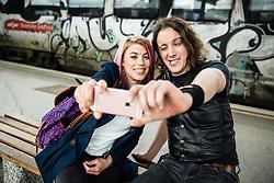 Selfie on train station, on May 17, 2016, in Ljubljana, Slovenia. Photo by Vid Ponikvar / Sportida