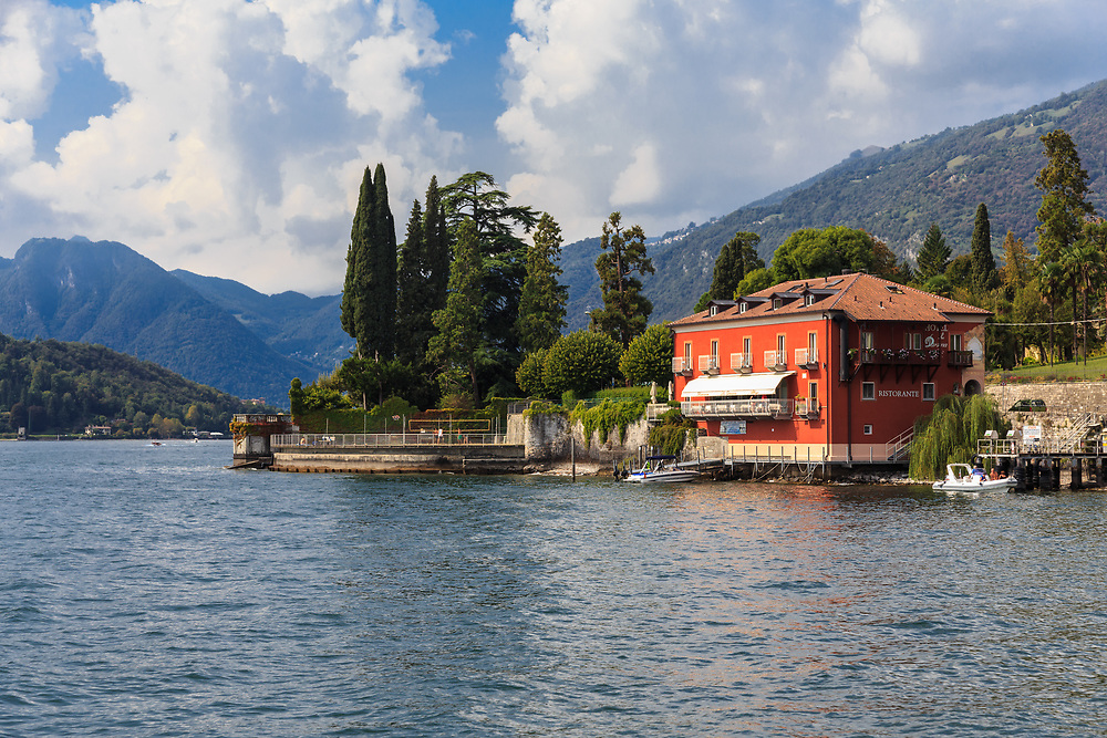 Hotel la Darsena on Lago di Como, Italy. Darsena means a covered dock for sheltering private boats. Earlier all the grand villas had a shelter for boats used for touring.