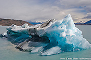Iceberg du Glacier Perito Moreno / Photo documentaire Patagonie Photo Documentary /  Argentina / 2008-12-20, Photo © Marc Gibert / adecom.ca