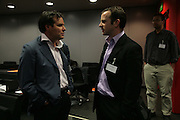 Brent Hoberman and Toby Coppel, Arts Alliance CEOs Summit. Tanaka Business School. Imperial College, London. 17 April 2007.  -DO NOT ARCHIVE-© Copyright Photograph by Dafydd Jones. 248 Clapham Rd. London SW9 0PZ. Tel 0207 820 0771. www.dafjones.com.