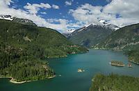 Diablo Lake and Davis Peak, North Cascades Washington