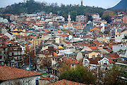 View over buildings in the historic centre of Plovdiv, Bulgaria, eastern Europe