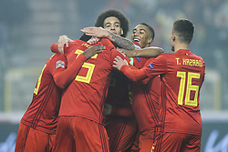 2018?11?16?.    ??????——?????????????.    11?15??????????????Michy Batshuayi????.    ??????????????????????A??2????????????2?0??????.    ????????? ?32?0?496539019..SP-FOOTBALL-UEFA NATIONS LEAGUE-BELGIUM-ICELAND.Belgian players celebrate Michy Batshuayi's goal during a League A Group 2 match of the UEFA Nations League between Belgium and Iceland at the King Baudouin Stadium in Brussels, Belgium, Nov. 15, 2018. Belgium beat Iceland by 2-0. (Credit Image: © Zheng Huansong/Xinhua via ZUMA Wire)