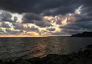 Jurassic Coast Dorset. Sunset at Eype Beach